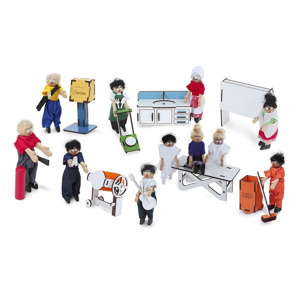 Família Terapêutica Profissões com Caracterização  - Alegria Brinquedos