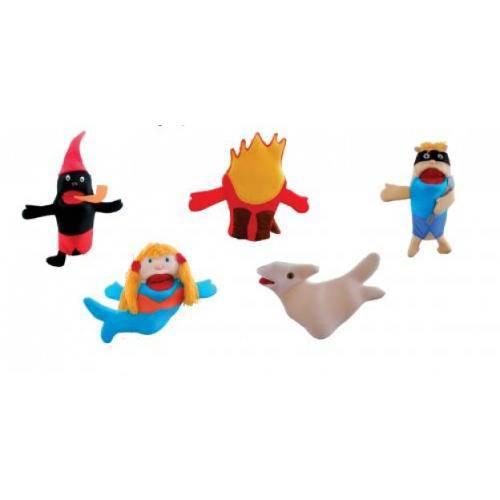 Fantoches Do Folclore C/ 5 Personagens  - Alegria Brinquedos