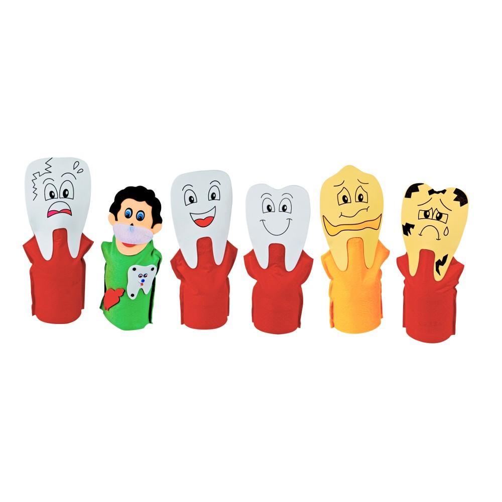 Fantoches Família Dentária  - Alegria Brinquedos