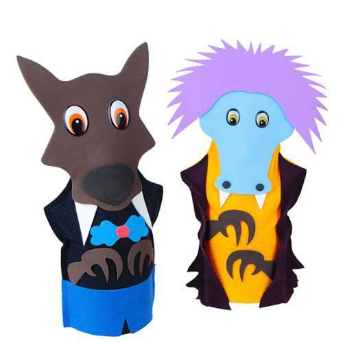 Fantoches Folclore Brasileiro Kit C/ 7 Personagens  - Alegria Brinquedos