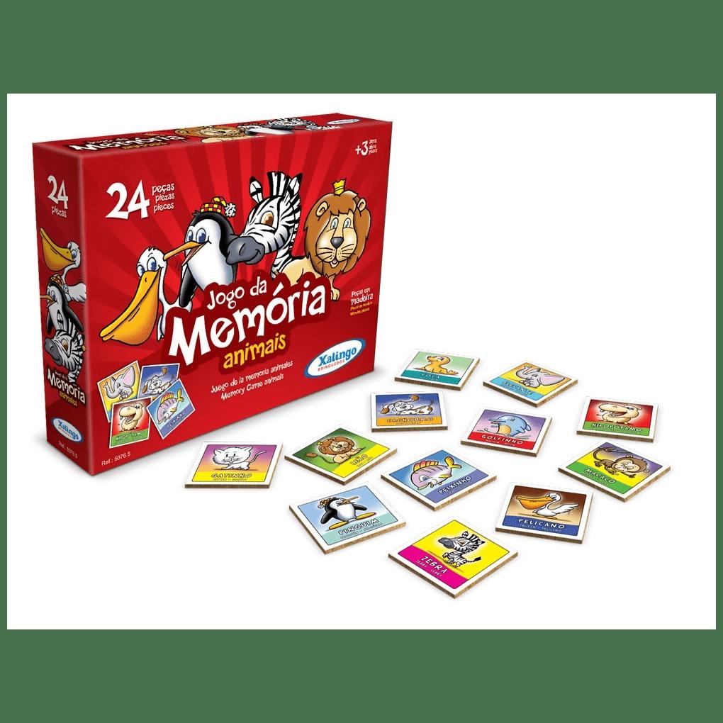 Jogo Da Memória Animais  - Alegria Brinquedos