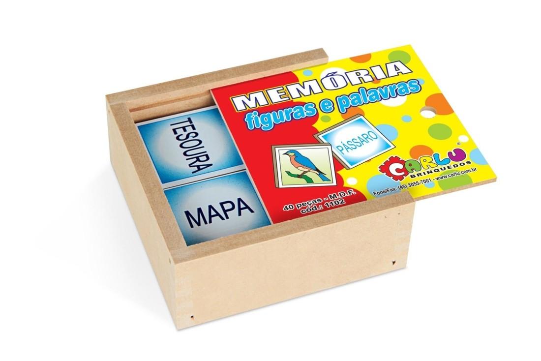 Jogo Da Memoria Silabas Iniciais E Figuras No Pcte  - Alegria Brinquedos