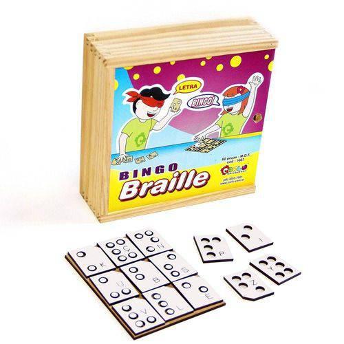 Jogo De Bingo Em Braille 60 Pc Em M.d.f.