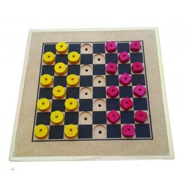 Jogo de Damas Adaptado  - Alegria Brinquedos