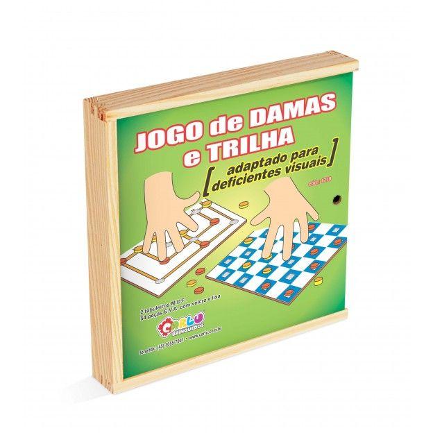 Jogo de Damas e Trilha Adaptado em E.V.A. e M.D.F.  - Alegria Brinquedos