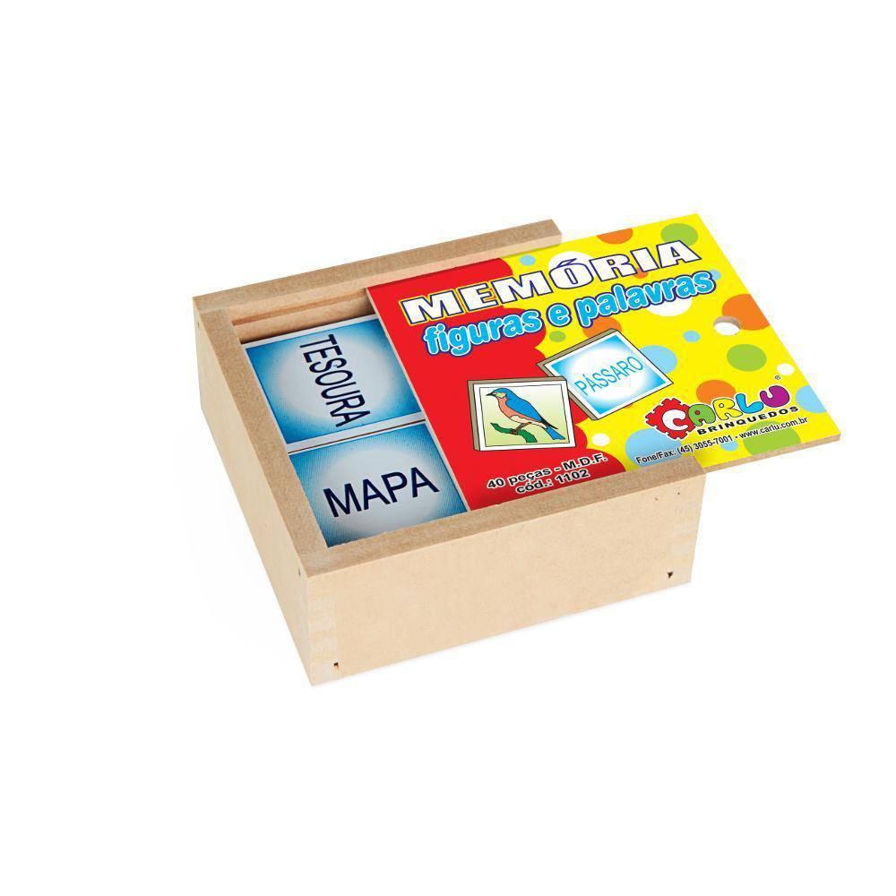 Jogo de Memoria Figuras e Palavras  - Alegria Brinquedos