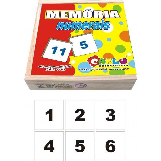 Jogo de Memoria Numerais  - Alegria Brinquedos