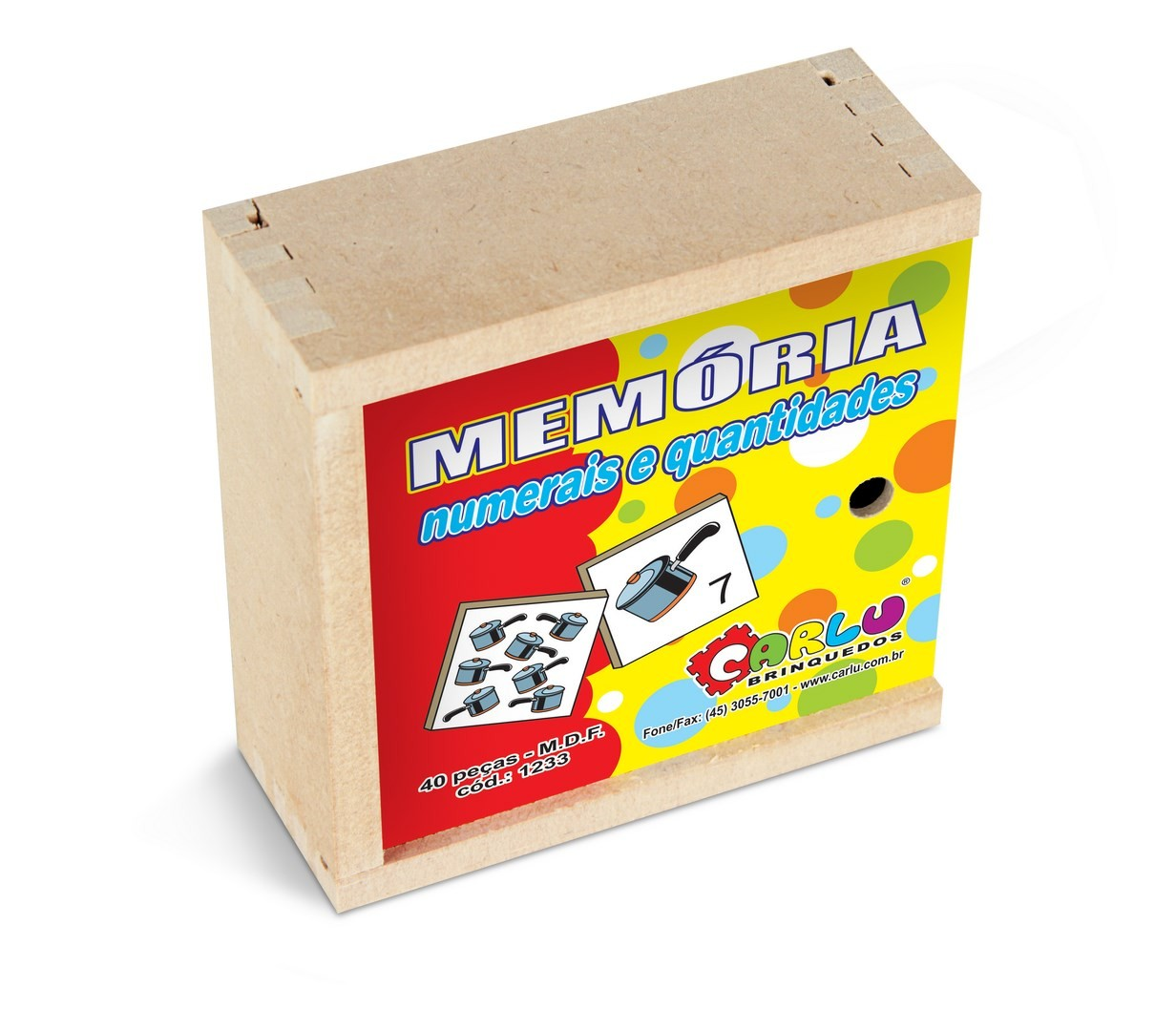 Jogo de Memoria Numerais e Quantidades  - Alegria Brinquedos