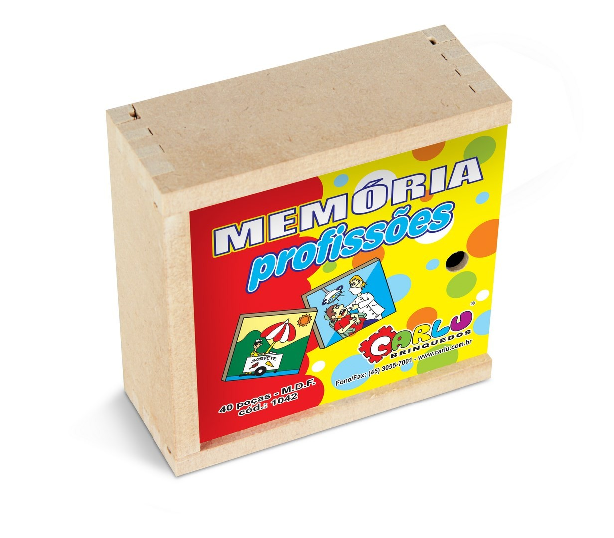 Jogo de Memoria Profissões  - Alegria Brinquedos