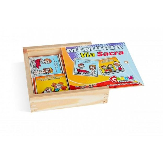 Jogo de Memória Via Sacra  - Alegria Brinquedos