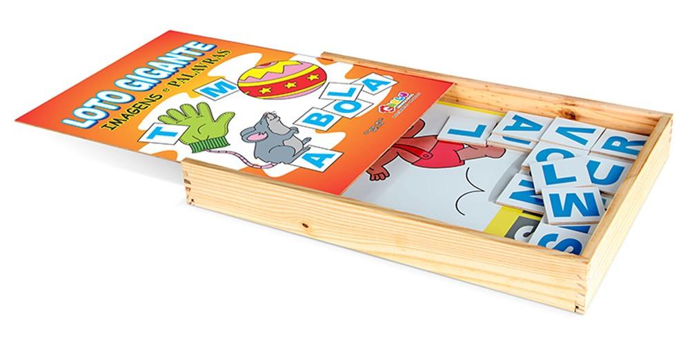 Loto Gigante Imagens E Palavras Em M.d.f. 30 Pç  - Alegria Brinquedos