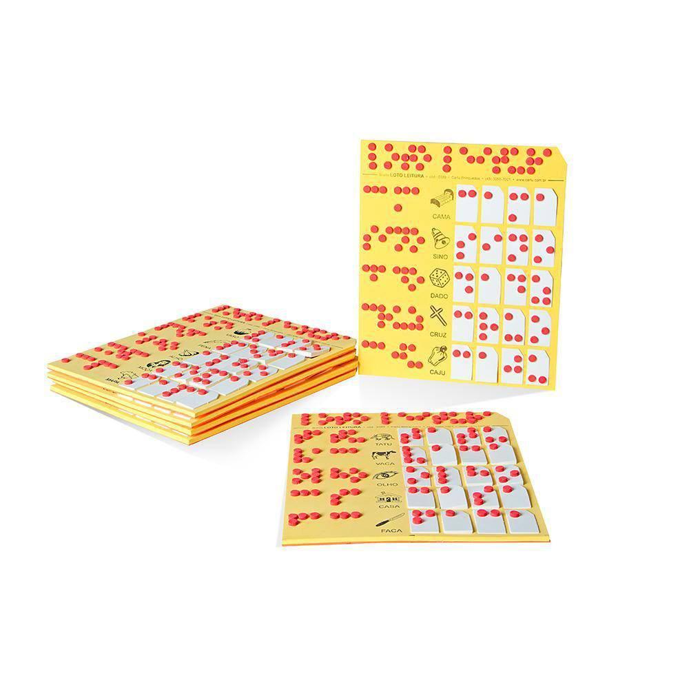 Loto Leitura Em Braille 6 Cartelas E 120 Pc E.v.a.  - Alegria Brinquedos