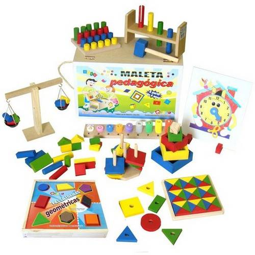 Maleta C/ 10 Brinquedos Diversos  - Alegria Brinquedos