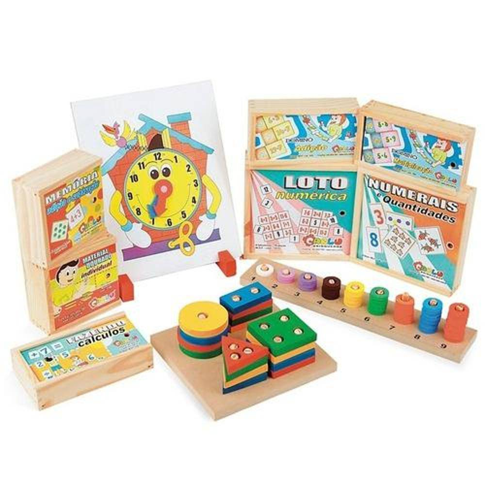 Maleta Matematica C/ 10 Brinquedos  - Alegria Brinquedos