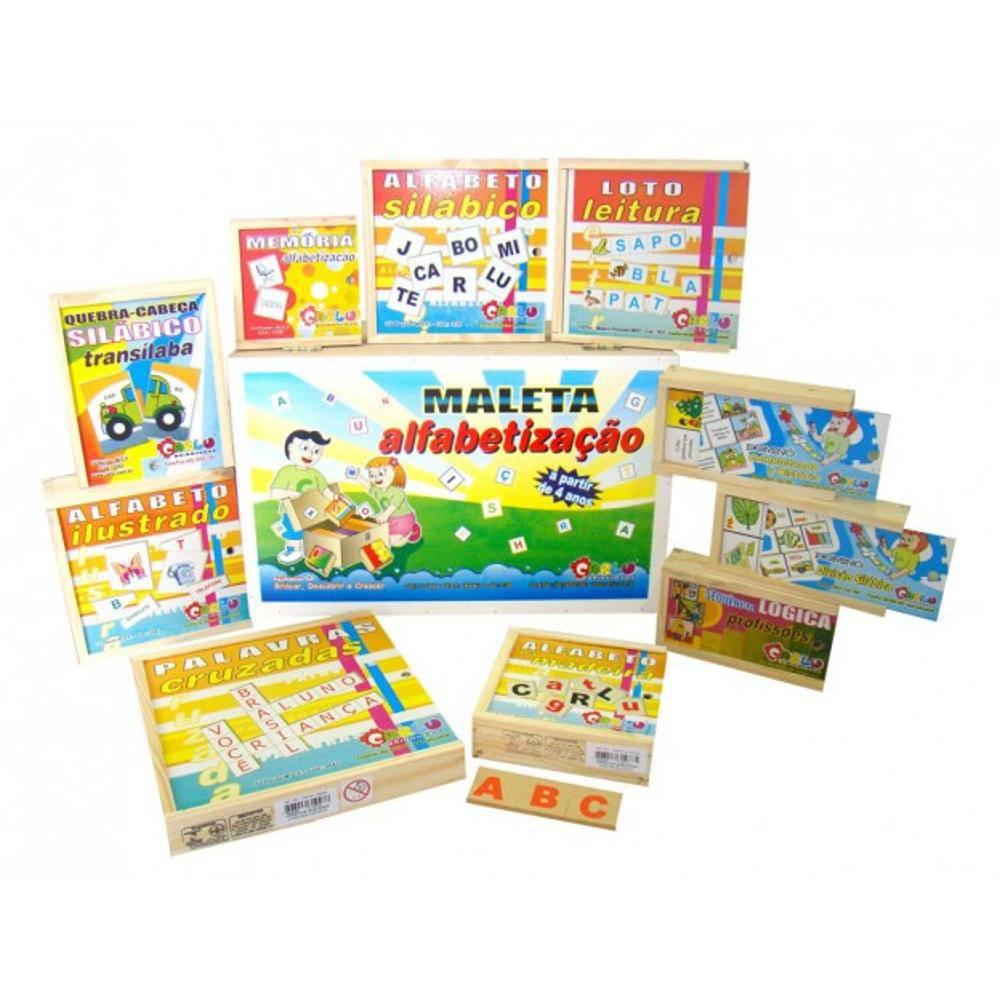 Maleta Pedagogica Alfabetizacao C/ 10 Jogos  - Alegria Brinquedos