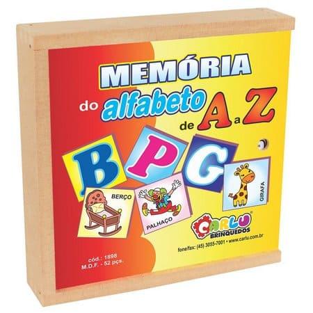 Memória Do Alfabeto De A a Z 52 Pc Cx Madeira