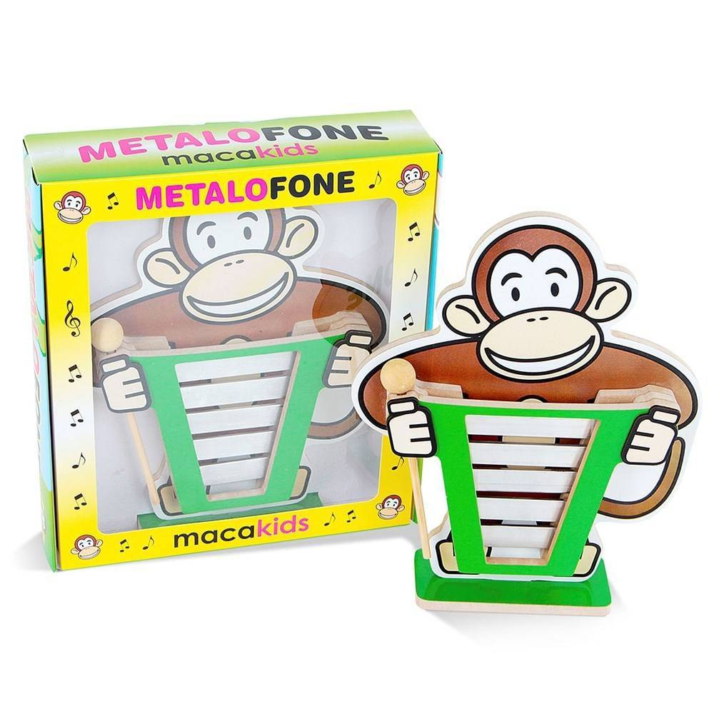 Metalofone De Barras Macakids Em M.d.f. Aluminio  - Alegria Brinquedos