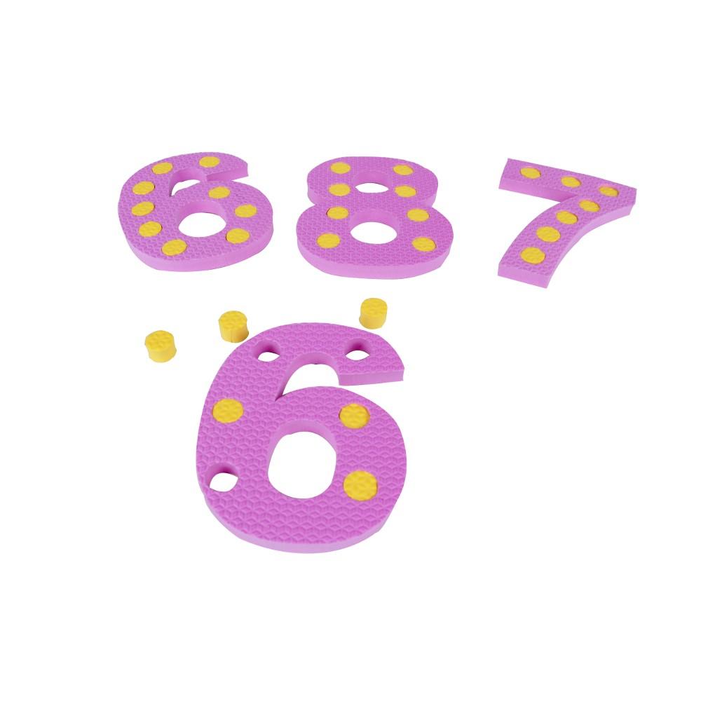 Numerais Com Pinos Em E.v.a. 10 Pc 45 Pinos  - Alegria Brinquedos