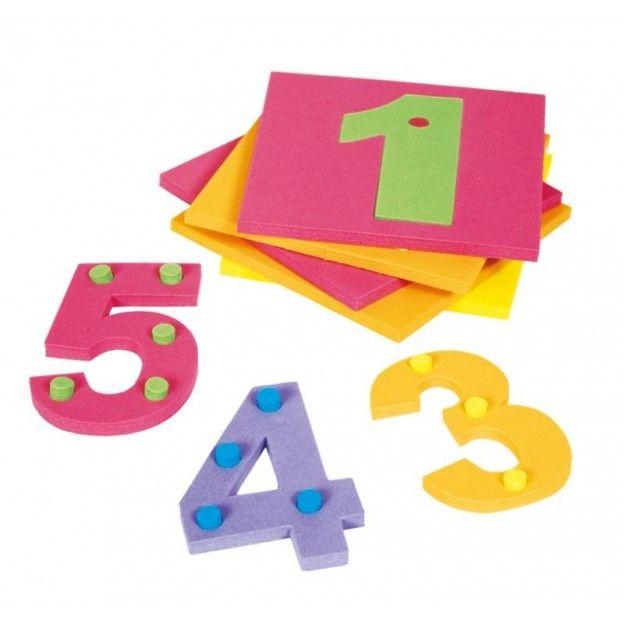 Numerais com Pinos em E.V.A. 10 Placas 45 Pinos
