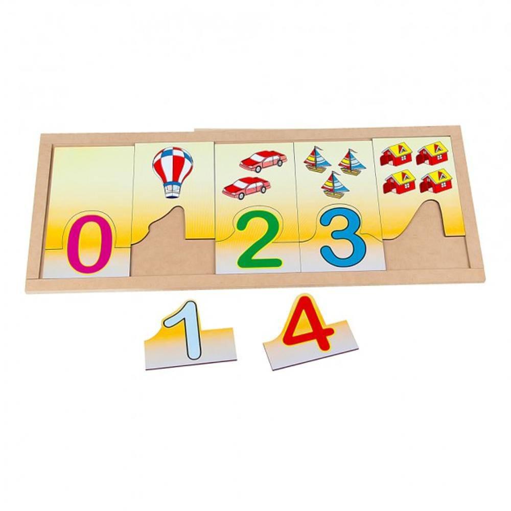 Numerais E Quantidades Na Base Em M.d.f.  - Alegria Brinquedos