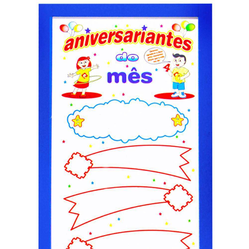 Painel Aniversariantes Do Mes M.d.f. 36,5x89x0,9