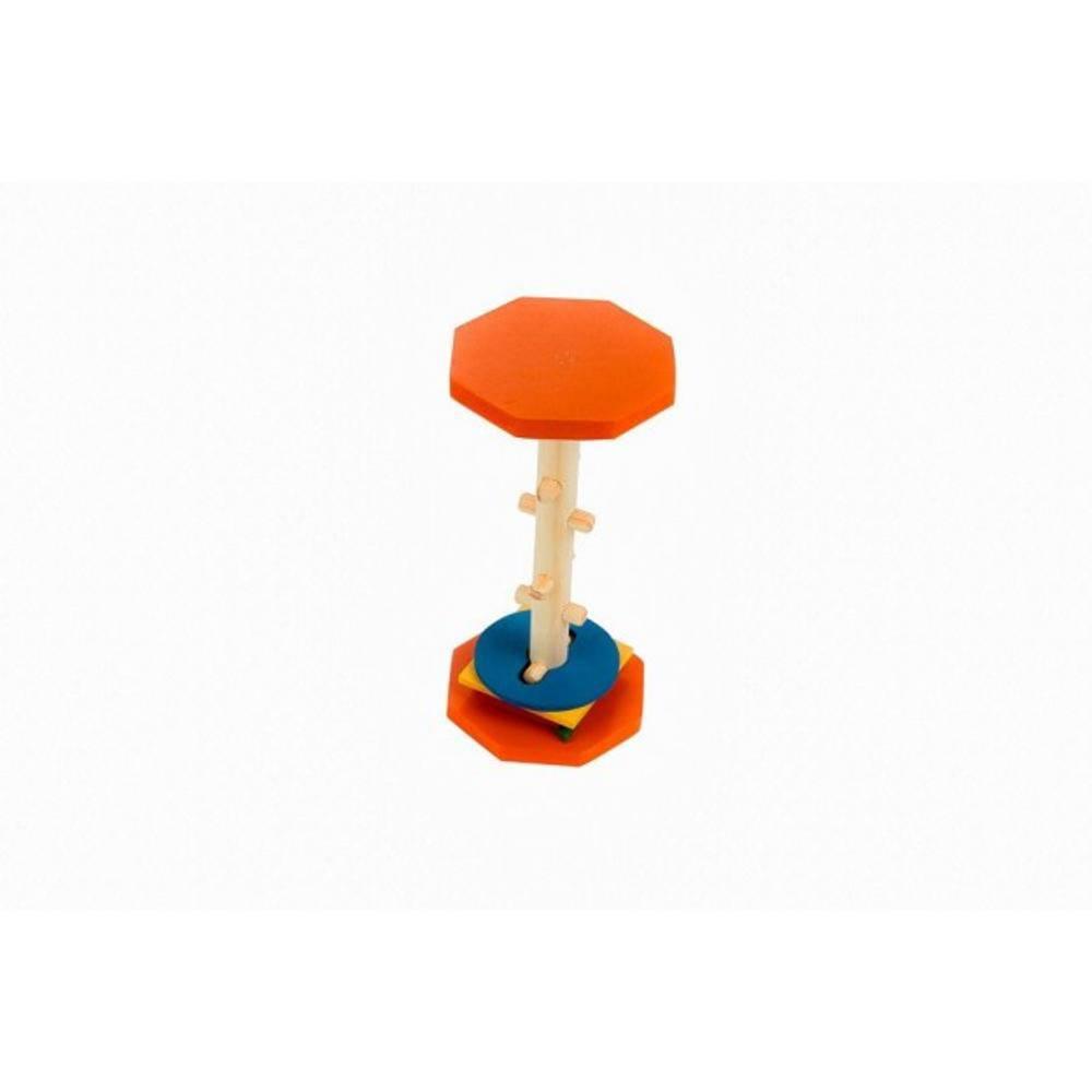 Passa Formas Horizontal Em M.d.f. 25 X 12 Cm  - Alegria Brinquedos