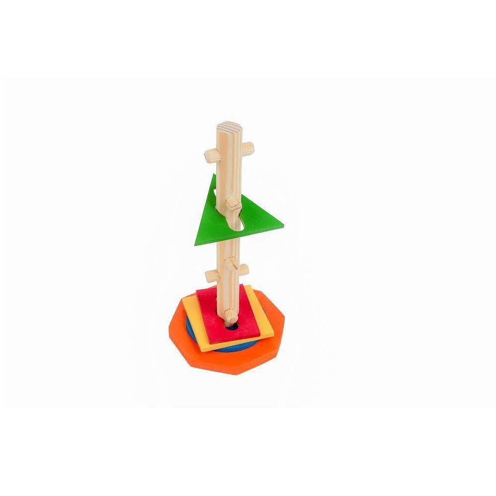 Passa Formas Vertical Em M.d.f. 25 X 12 Cm  - Alegria Brinquedos