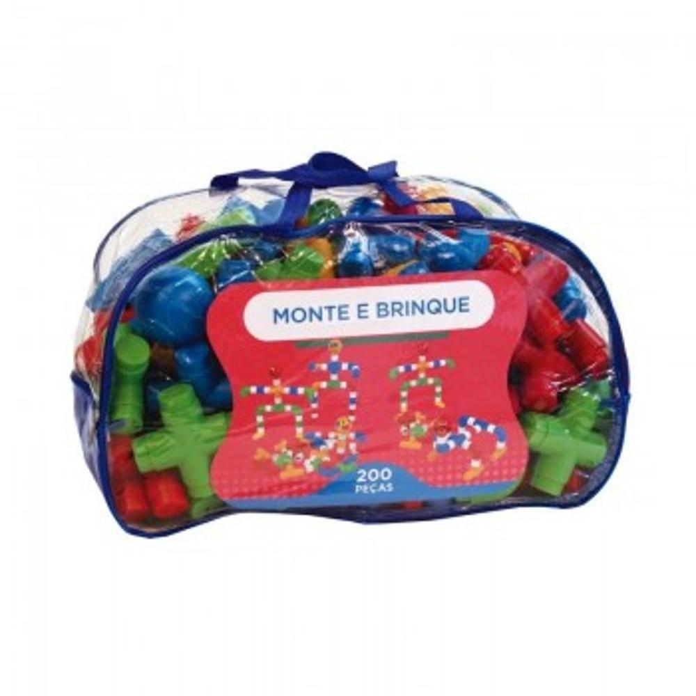 Pecas P/ Montar Sacolao Monte E Brinque 200 Pc  - Alegria Brinquedos