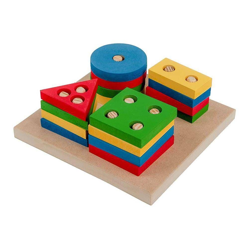 Prancha De Seleção Pequena - Mdf - 16 Pc - Pvc Enc  - Alegria Brinquedos