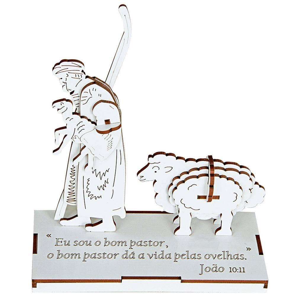 Quebra-Cabeca 3d Bom Pastor M.d.f. 15 Pc