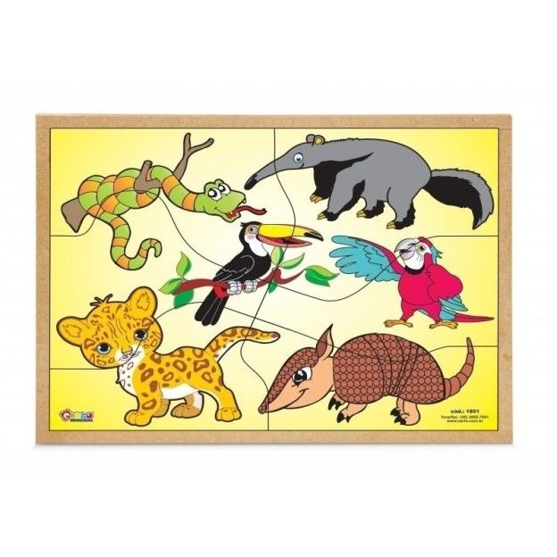 Quebra-Cabeça Animais da Fauna Brasileira