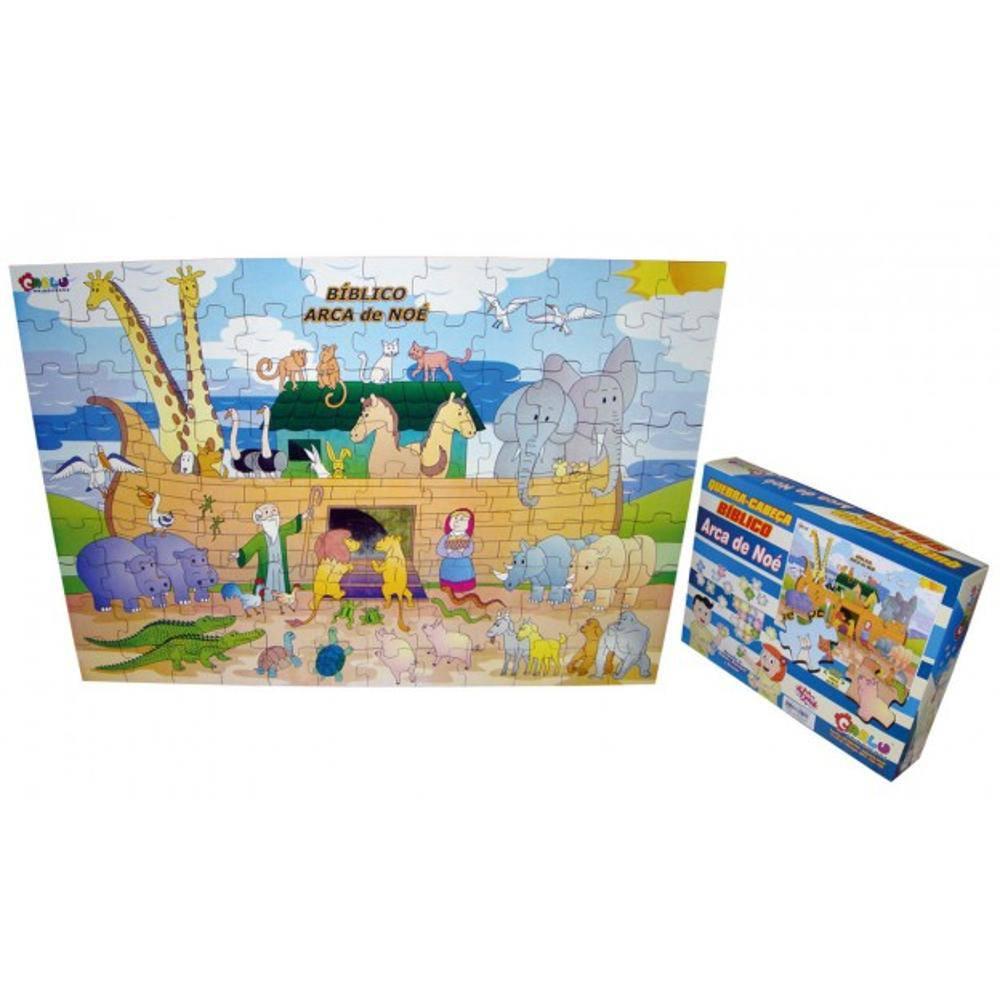 Quebra-Cabeça Biblico Arca De Noe M.d.f.108 Pc  - Alegria Brinquedos