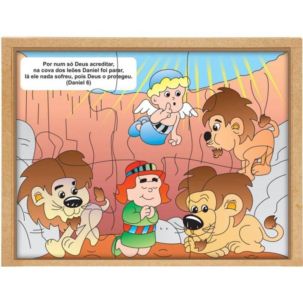 Quebra-Cabeca Biblico Daniel Na Cova Dos Leoes  - Alegria Brinquedos