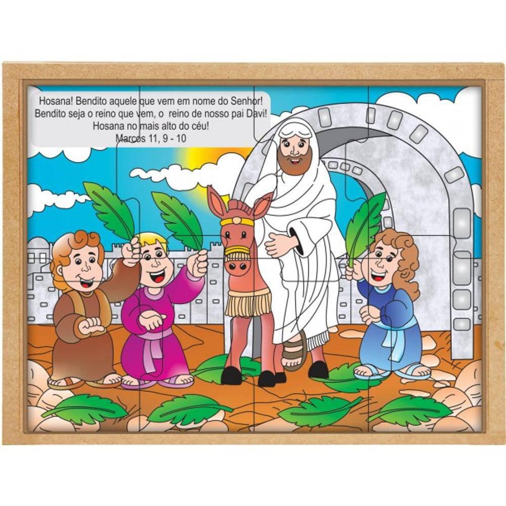 Quebra-Cabeca Biblico Domingo De Ramos