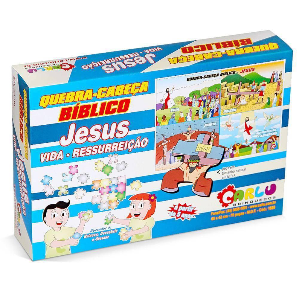 Quebra-Cabeça Biblico Jesus-Vida E Ressureicao 70  - Alegria Brinquedos
