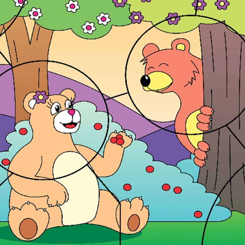 Quebra-Cabeca Casal Ursos 9 Pc 30 X 23 Cm  - Alegria Brinquedos