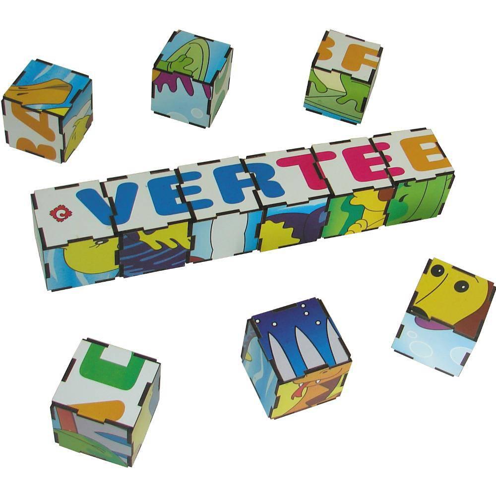 Quebra-Cabeça Cubos Animais Vertebrados 22x17x5,5  - Alegria Brinquedos