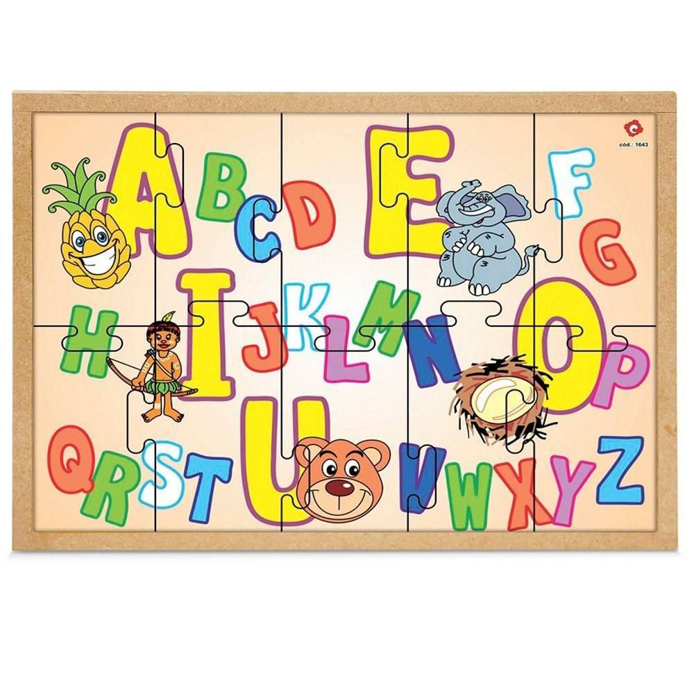 Quebra-Cabeca Da Alfabetizacao M.d.f. 33,5 X 26,5  - Alegria Brinquedos