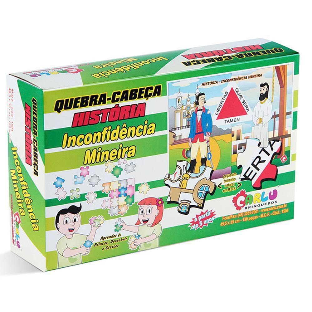 Quebra-cabeça História Inconfidência Mineira 130 Peças  - Alegria Brinquedos