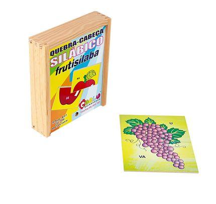 Quebra-Cabeca Silabico Frutisilaba 18pc 15x12 Cm  - Alegria Brinquedos