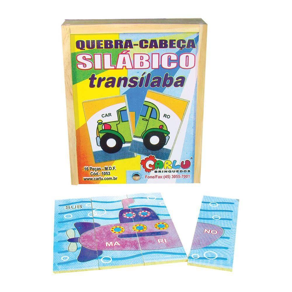 Quebra-Cabeca Silabico Transilaba 16 Pc 15x12cm