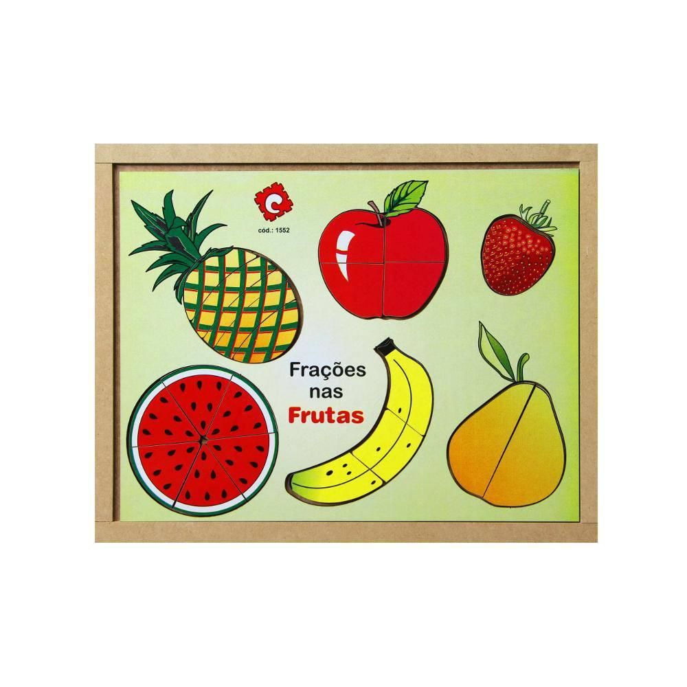 Quebra-Cabeças Fracoes Nas Frutas Em M.d.f. 22 Pc