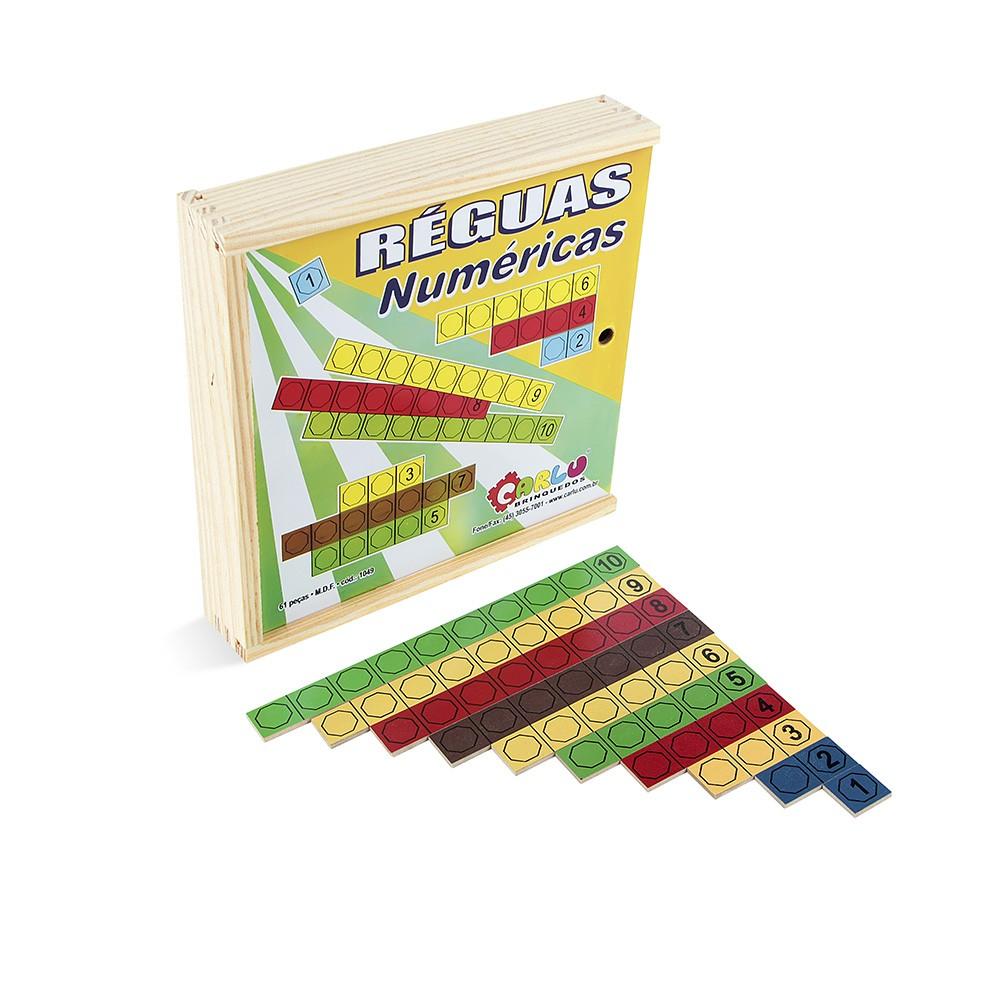 Reguas Numericas Em M.d.f. 61 Pc  - Alegria Brinquedos