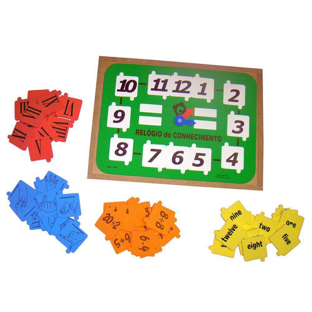 Relogio Do Conhecimento Em M.d.f. E E.v.a.  - Alegria Brinquedos