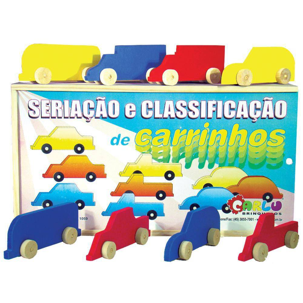 Seriacao E Classificacao De Carrinhos M.d.f. 18 Pc