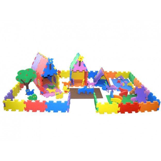 Sítio da Imaginação em E.V.A. 84 Peças  - Alegria Brinquedos