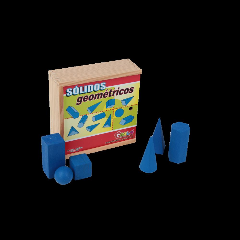 Solidos Geometricos Em Madeira Cx 11 Pc  - Alegria Brinquedos