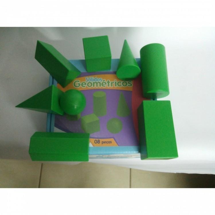 Solidos Geometricos Em Plastico C/ 8 Pc  - Alegria Brinquedos