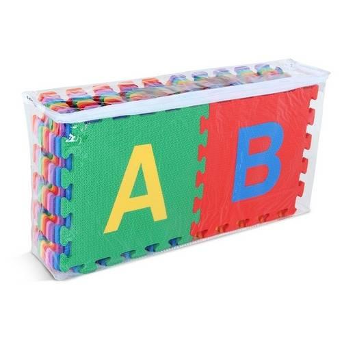 Tapete Pedagogico Alfabeto C/ 26 Peças 30 X 30 Cm  - Alegria Brinquedos