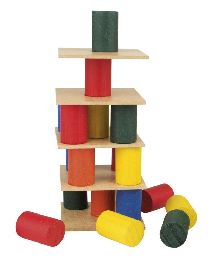 Torre Inteligente - Mad. - 63 Pc- Cx. Mad.  - Alegria Brinquedos